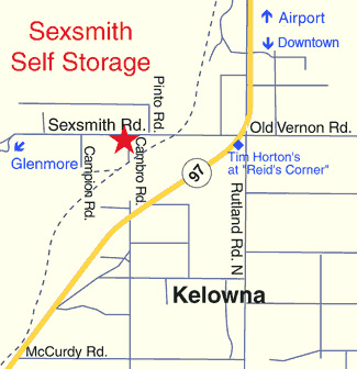 kelowna storage map